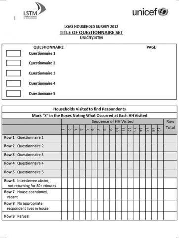 Lot Quality Assurance Sampling LQAS Generic Questionnaire ...
