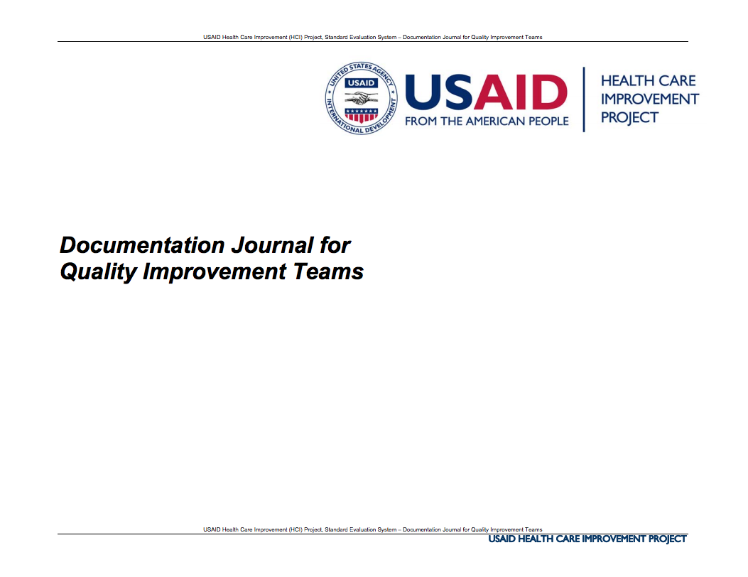 Documentation Journal for Quality Improvement Teams