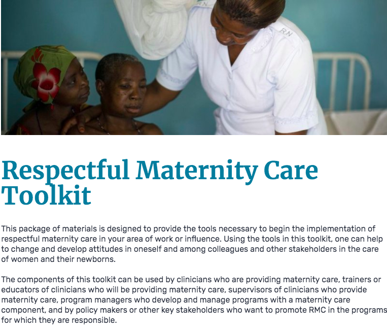Respectful Maternity Care Toolkit